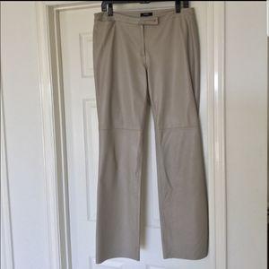 BCBG gray leather pants
